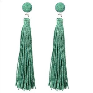 Tassel Kelly green earrings